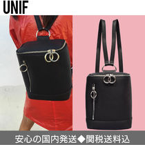 UNIF Clothing Casual Style Faux Fur Plain Backpacks