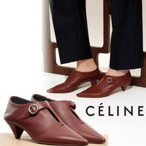 CELINE Plain Office Style Pointed Toe Pumps & Mules