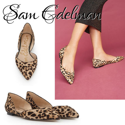 Leopard Patterns Leather Slip-On Shoes