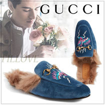 GUCCI Fur Other Animal Patterns Sandals