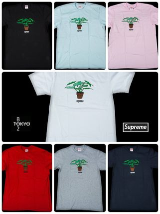 Supreme More T-Shirts Street Style Cotton Short Sleeves T-Shirts