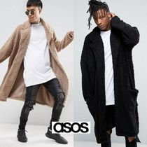 ASOS Faux Fur Long Midi Chester Coats