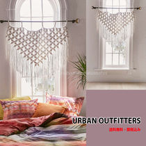 Urban Outfitters Flower Patterns Plain Fringes Curtains