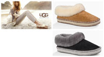 UGG Australia WRIN Fur Plain Slippers Slip-On Shoes