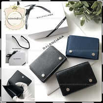 BALENCIAGA Studded Leather Folding Wallets