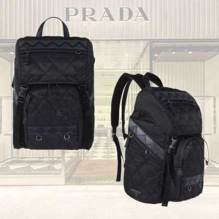 Casual Style Nylon A4 2WAY Backpacks