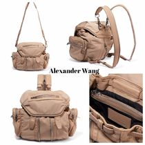 Alexander Wang Casual Style 2WAY Plain Leather Backpacks