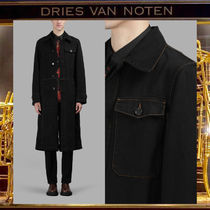 Dries Van Noten Denim Plain Chester Coats