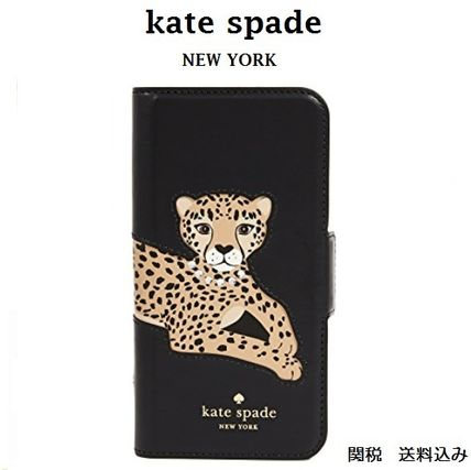 kate spade new york Leopard Patterns Leather Smart Phone Cases