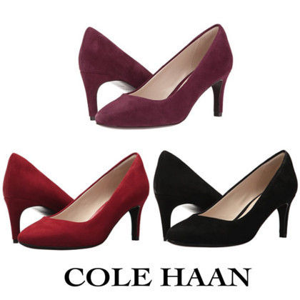 Cole Haan Casual Style Suede Plain High Heel Pumps & Mules