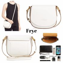 FRYE Casual Style Plain Leather Shoulder Bags