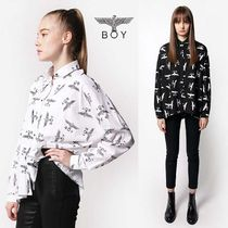 BOY LONDON Street Style Long Sleeves Other Animal Patterns Cotton