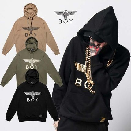 BOY LONDON Hoodies Pullovers Street Style Long Sleeves Other Animal Patterns