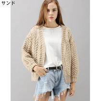 Chicwish Cable Knit Casual Style Long Sleeves Plain Medium Sweaters