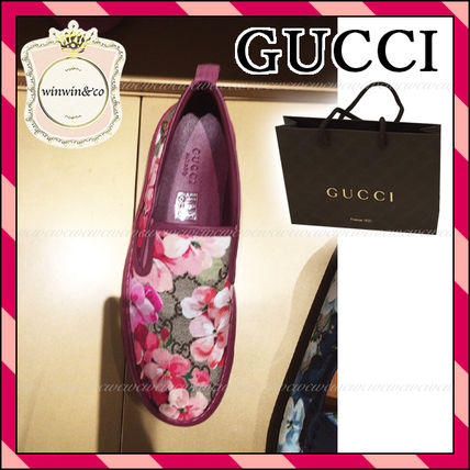 GUCCI Flower Patterns Low-Top Sneakers