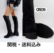 ASOS Platform Casual Style Plain Over-the-Knee Boots