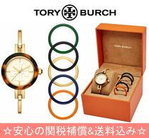 Tory Burch GIGI Casual Style Round Quartz Watches Stainless Analog Watches