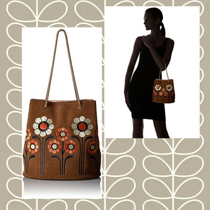 Flower Patterns Chain Leather Purses Shoulder Bags