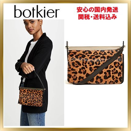 2WAY Other Animal Patterns Leather Party Style Clutches