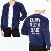 Calvin Klein Casual Style Plain Medium Bomber Jackets
