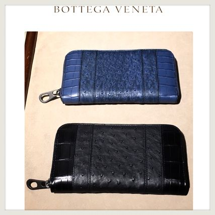 Ostrich Leather Long Wallets