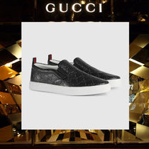 GUCCI Plain Leather Loafers & Slip-ons