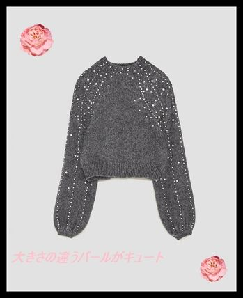 Short Long Sleeves With Jewels Cropped