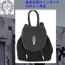 CHROME HEARTS DAGGER Casual Style Unisex Street Style Plain Leather Backpacks