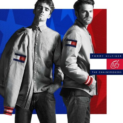 Tommy Hilfiger Street Style Collaboration Plain MA-1 Bomber Jackets