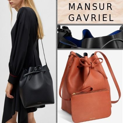 MANSUR GAVRIEL Plain Leather Shoulder Bags