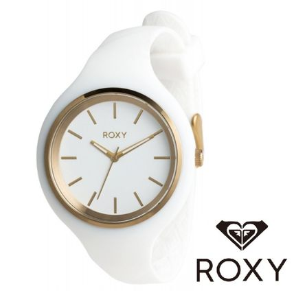 ROXY Casual Style Unisex Street Style Silicon Round