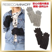Rebecca Minkoff Casual Style Unisex Plain Smartphone Use Gloves