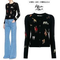 Alice+Olivia Long Sleeves Other Animal Patterns Cotton Medium Cardigans