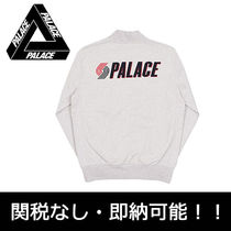 Palace Skateboards Button-down Street Style Long Sleeves Plain Cotton Hoodies