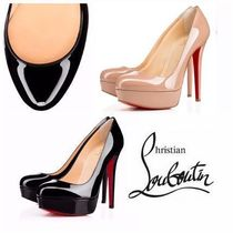 Christian Louboutin Plain Leather Pin Heels Stiletto Pumps & Mules