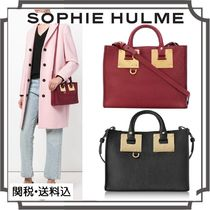 SOPHIE HULME Casual Style Blended Fabrics 2WAY Plain Leather Bold
