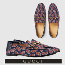 GUCCI Paisley Loafers Leather U Tips Loafers & Slip-ons