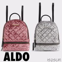 ALDO Blended Fabrics A4 2WAY Plain Elegant Style Backpacks