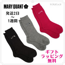MARY QUANT Flower Patterns Plain Socks & Tights
