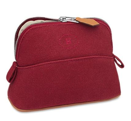 43bb61001f16 HERMES Bolide Canvas Plain Pouches   Cosmetic Bags (H102772M 03) by ...