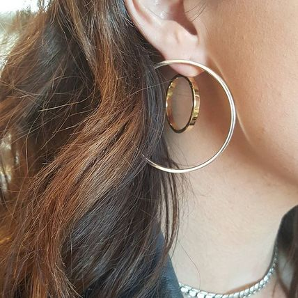 JENNY BIRD Casual Style Silver Brass 14K Gold Earrings & Piercings