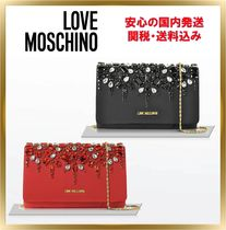 Love Moschino Chain Party Style With Jewels Shoulder Bags