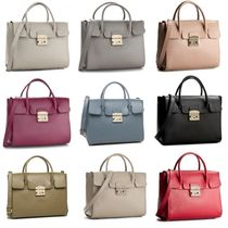 FURLA METROPOLIS A4 2WAY Plain Leather Handbags