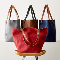 marc AND graham Casual Style Suede A4 Plain Totes