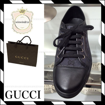 GUCCI Casual Style Unisex Low-Top Sneakers