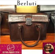 Berluti 2WAY Leather Handmade Clutches
