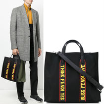 FENDI F VOCABULARY EMBELLISHED TOTE BAG
