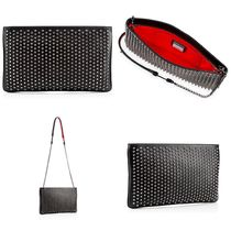 Christian Louboutin Studded 2WAY Plain Leather Clutches