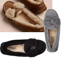 UGG Australia ANSLEY Sheepskin Plain Slip-On Shoes