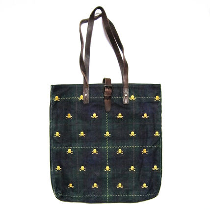 Skull Canvas Street Style A4 Party Style Totes